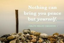 quote / Nothing can bring you peace but yourself