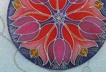 Hedvábné mandaly / handmade, hedvábí
