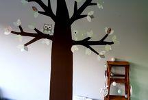 behang bomen / gave muurvullende bomen. gemaakt van behang. hiermee heb je een echt eye-catcher op je baby- of kinderkamer.