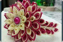 kanzashi , ribon , handmade , etc. / by Maria Lucia