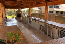 Outdoor Kitchens / Tired of the husbands tacky BBQ pit?  Dragging out that same old folding table?  Carrying all of those condiments from inside to the outside?  Have to fear, the outdoor kitchen is here!