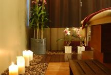 Zen Urban spa / Massage room, decoration, beautiful,'relax, combination collors, peace.