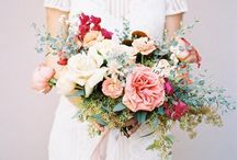 BOUQUETS / Beautiful bouquets for brides, bridesmaids, flower girls, and family in a variety of styles. From small nosegays to large bouquets, single stems to floral wreaths- a variety of personal flowers for your entire wedding party.