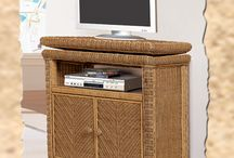 TV Stands / Rattan and Wicker TV Cabinets, Wicker LCD TV Carts, flat screen tv armoires, bakers racks, etageres, & wall units http://www.americanrattan.com/rattan-wu.html