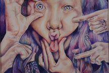 GCSE Art Yr 10 Distorted Faces