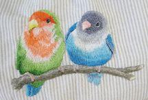 Borduurwerk vogels / Vogels