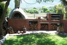 Braais & outdoor ovens - and barbecues - outdoor kitchens / by Jo Wiles