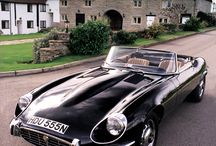 E type jag / If ever a car looked like a woman, this must surely be it.