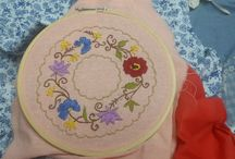 embroidery / flowers and different patterns