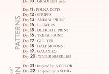 31 Day Relaxed Challenge / so i can do at my own pace and not worry about life or kids etc distracting me :)