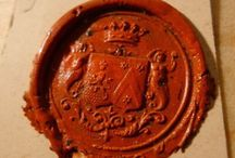 Wax seal and calligraphy