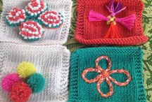 Knit for Peace Mysore trip / Swatches inspired by the Knit for Peace 2015 trip to Mysore