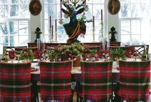 Tartan dining room chair covers / Christmas