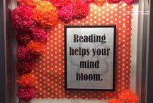 LIBRARY BULLETIN BOARDS / by Karen Riley