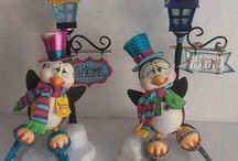 Pingüinos Muñecos Navidad