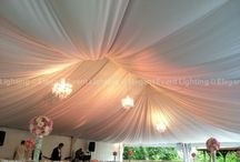 Tent Lighting & Draping / Transform the look of your Wedding Tent with Lighting & Draping from Elegant Event Lighting Chicago! www.EELchicago.com