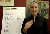 Homeschool - sign language / by Denise Tullier Montague