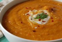Red lentil and carrot soup