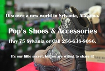 Pop's Shoes & Accessories of Sylvania, AL / Pop's Shoes & Accessories, Hwy 75 Sylvania, We carry famous name brand footwear by Wolverine, Sketchers, Corkys, WeBoo and Redfoot just to name a few? It's our little secret, but we are willing to share it. Call 256-638-8086 and discover a new world of footwear in Sylvania, Alabama. / by Infinity Marketing Services