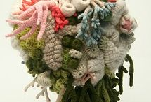 knitting, crochet, knit, binding, crocheting