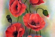 RED POPPIES --MAKY