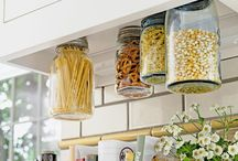 kitchen DIY storage / by Amy Sanchez