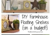 Farmhouse Home Decor @ The Simply Organized Home / Farmhouse home decor and rustic-style that can be easily added to any home. All posts from The Simply Organized Home.