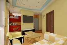 Apartament flat (Moscow), 49sq.meters / Project flat, design for family 2 men. Modern, minimalist style. Painting, finishing accent wall painted author. Tel: +7(926) 875-88-37 Alexey
