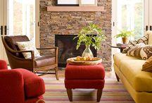 Fireplace ideas / Basement