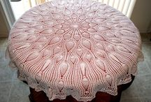 Crochet table cloths and runners