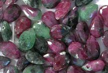 Ruby Zoisite Gemstone Beads