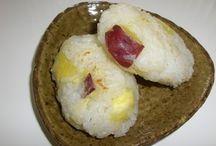 Japan: Autumn Dishes / Renkon, Sweet Potato, Taro, Ube, Carrot, Kombocha