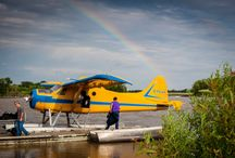 The Planes at Sabourin  / Sabourin Lake Lodge has always owned their own planes, giving our guests complete flexibility with their travel plans. You can Fly or drive to Winnipeg MB or Red Lake, Ontario any day of the week.  We will fly you directly into camp ( daylight hours of course!)