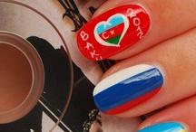 flags of the world nailart