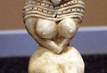 Goddess / scary indus valley bird goddess