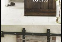 Barn Door Hardware Inspiration / Inspirations for sliding barn door hardware applications.