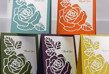 Rose Garden thinlits cards