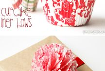 DIY with Cupcake Liners / Here are many crafty ideas for uses of Cupcake Liners.
