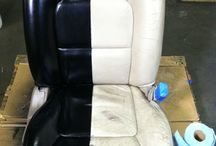 Vinyl, Leather and car upholstery / Give new life to old vinyl, leather or upholstery on your boat, car, motorbike, scooter or motor home.