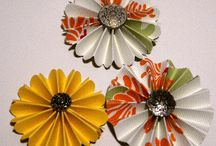 PaperCraftCentral Paper Flowers / How to make paper flowers from cardstock, designer series paper and mixed art media