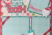 First tooth scrapbook page