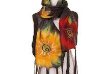 Валяные палантины, шарфы, аксессуары