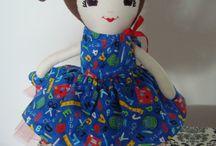 soft dolls, fabric dolls, cloth dolls / fabric dolls
