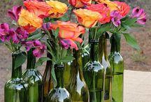botellas vino decoración