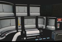 Environment / Modular / Sci-fi interior
