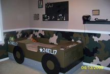 Camo bed room