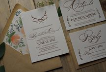 Invite project inspiration / Inspiration for my new wedding invitation and stationary design project