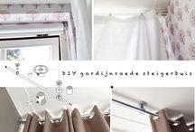 slaapkamer/gordijnen ophangen