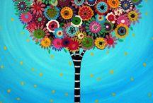 Színes festmények