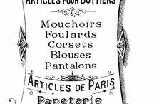 Etiquettes vintage
